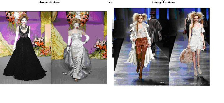 Haute couture vs ready to wear coco 39 s beauty fashion for Couture vs haute couture
